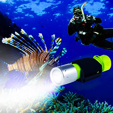 BlueFire 1100 Lumen CREE XM-L2 Professional Diving Flashlight, Bright  Submarine Light Scuba Safety Lights Waterproof Underwater Torch for Outdoor