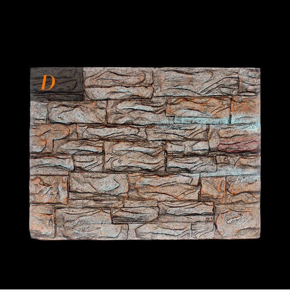 Amazon.com: Clearance Sale!DEESEE(TM)🌸🌸3D Foam Rock Reptile Stone Aquarium Background Backdrop Fish Tank Board Decor (H): Home Improvement