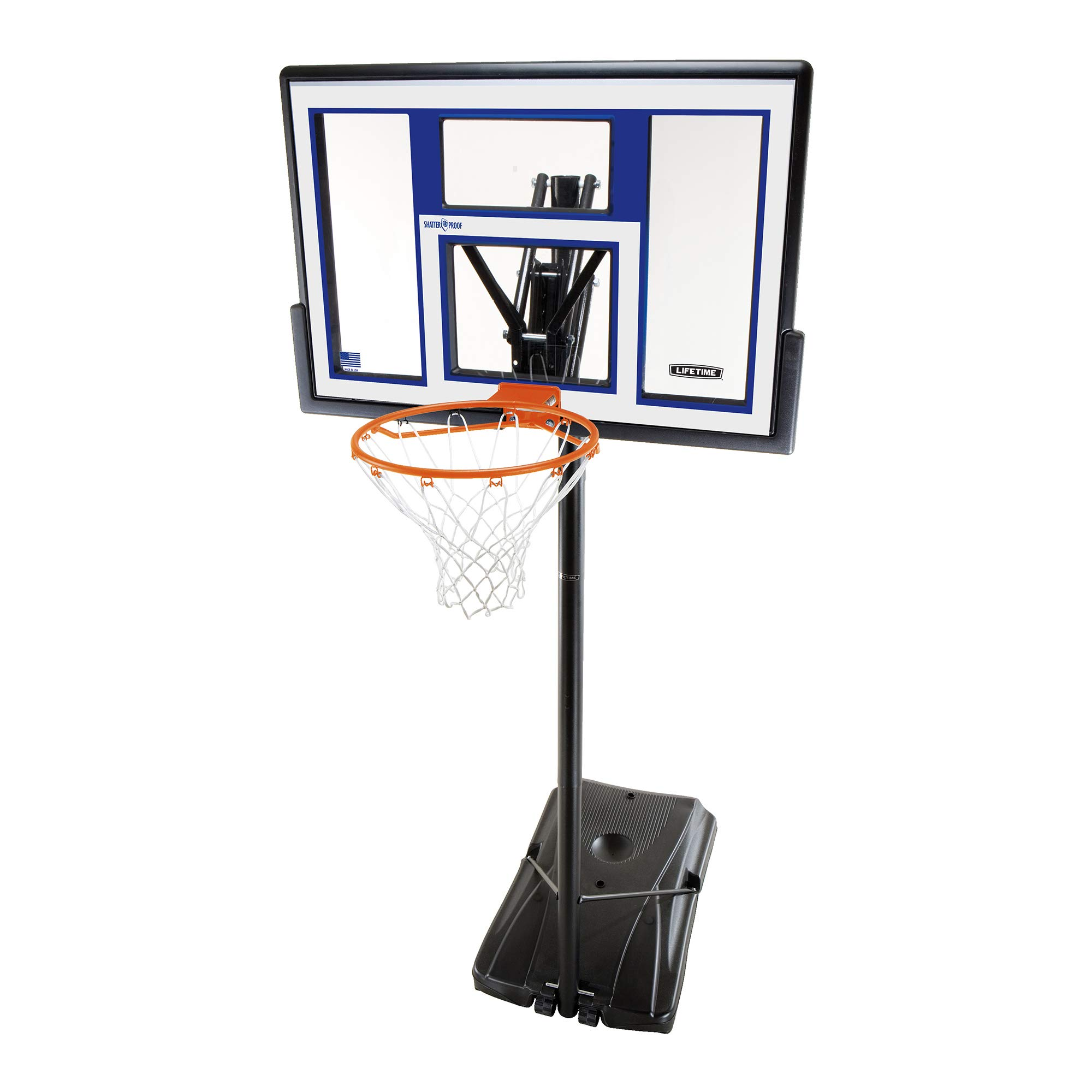 Lifetime Portable Basketball Hoop 90168 48-inch Polycarbonate Backboard System by Lifetime (Image #1)