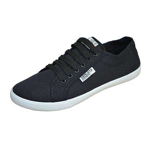 Hombre Henleys Kenyon Zapatillas De Lona Cordones Diseñador Zapatillas Zapatillas Casual: Amazon.es: Zapatos y complementos