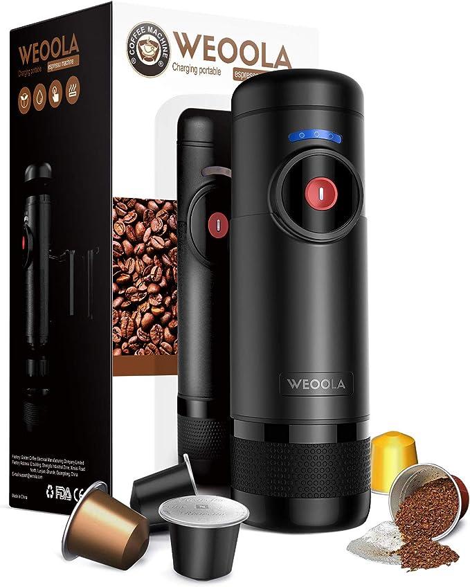 Máquina de café espresso portátil de mano en 30 segundos, la carga USB es ligera y manejable, el acero inoxidable es fácil de limpiar y no se empaña, ultrasilenciosa. Automático portátil: Amazon.es: