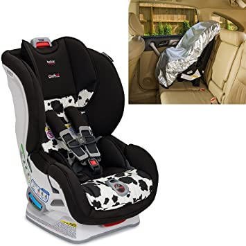 Britax USA Marathon ClickTight Convertible Car Seat With Sunshade Cowmooflage