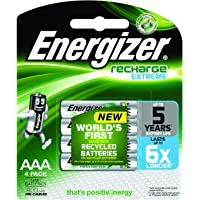 Energizer Recharge Extreme Rechargeable AAA Batteries, 4 Pack
