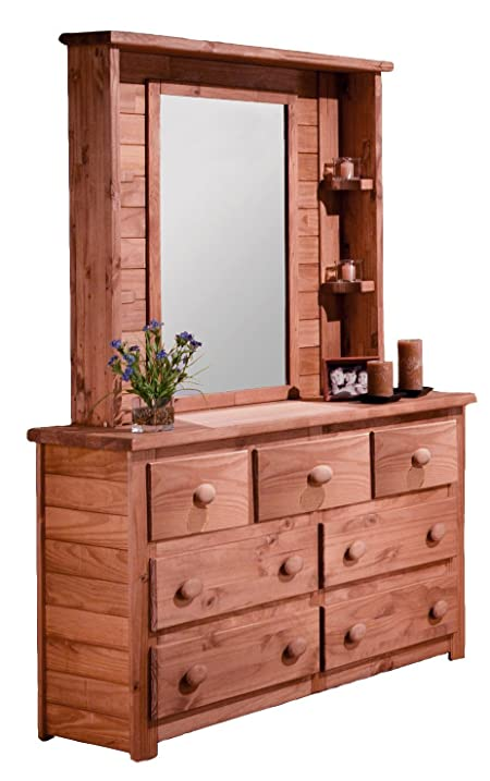 dresser with hutch mirror bedroom 7drawer dresser with mirror hutch in mahogany stain finish 680192 amazoncom