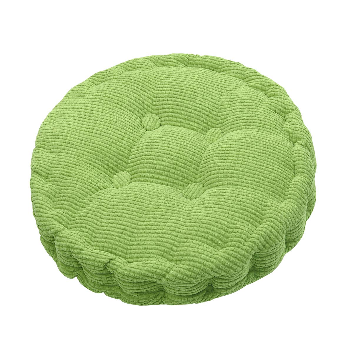 HomeMiYN Outdoor Round Seat Cushions Solid Color Indoor Chair Pads EPE Cotton Filled Boosted for Patio Office Kitchen (17.72 inches in Diameter)