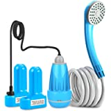 innhom Portable Shower Camping Shower Outdoor Camp Shower Pump, Electric Rechargeable Portable Camping Shower, Powered…