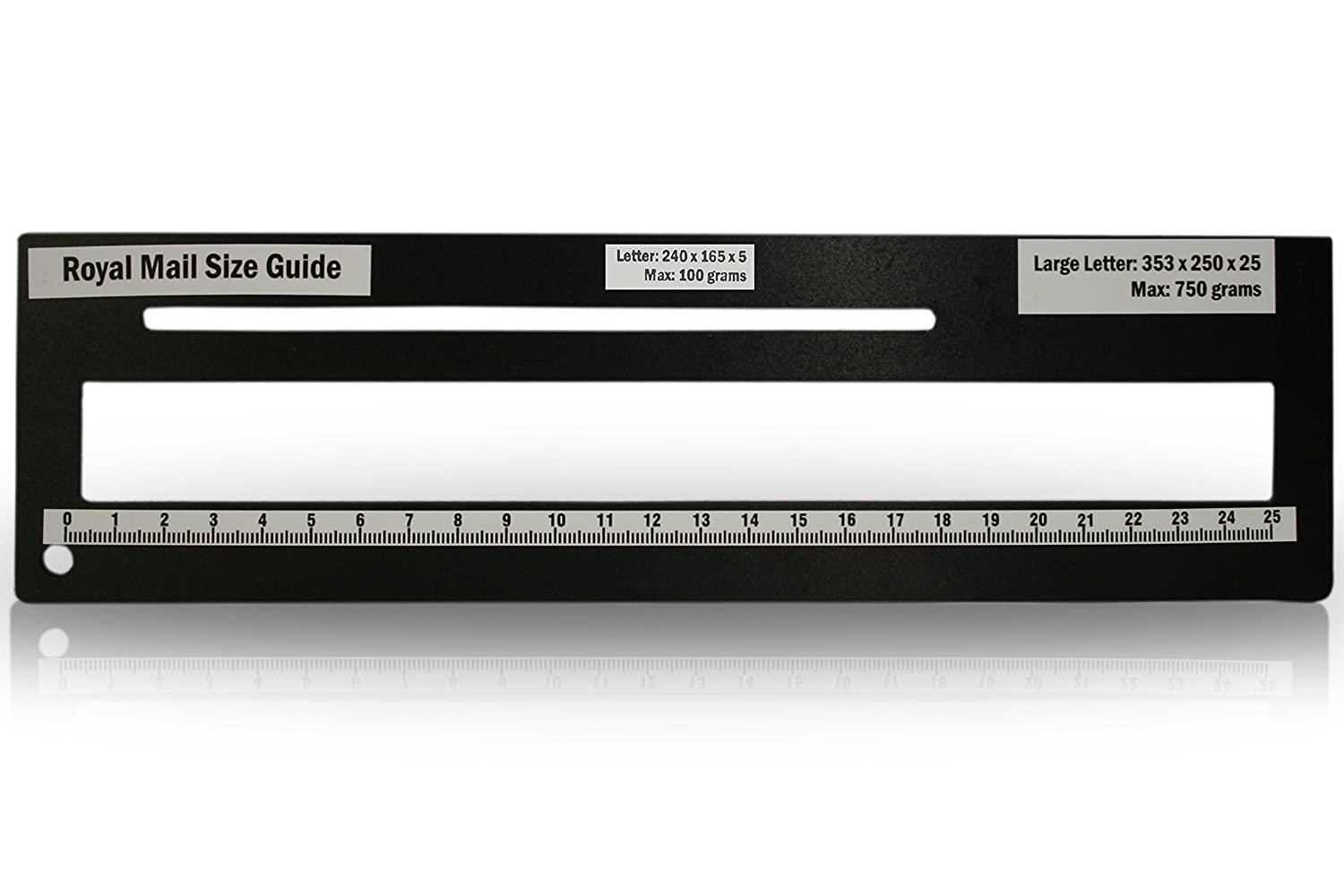 Royal Mail PPI Letter Size Guide Ruler Post Office Postal Price Postage in Black.: Amazon.co.uk: Office Products