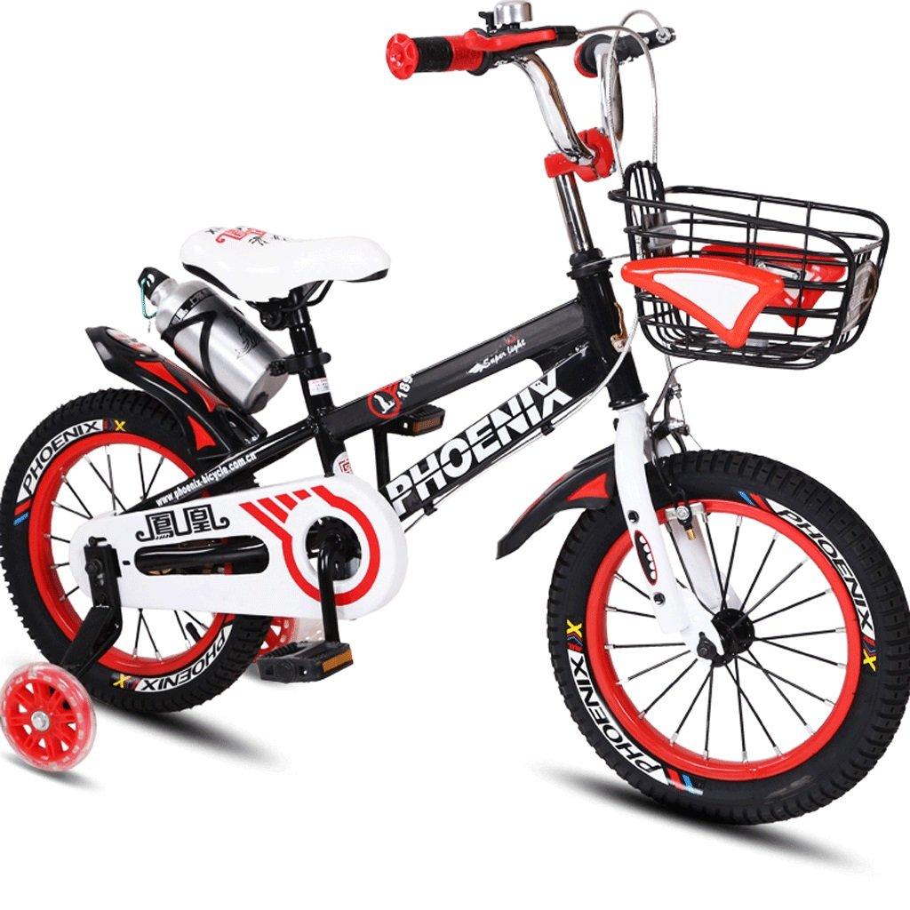 子供用自転車3~12歳のベビー用自転車男性用と女性用自転車用ベビーカー (色 : 赤, サイズ さいず : 14 inches) B07D5VLR3R 14 inches|赤 赤 14 inches