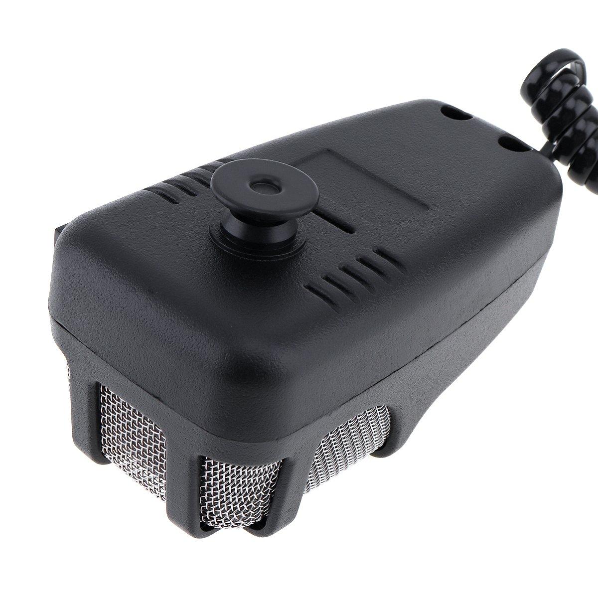 Siren Altavoz electr/ónico de alarma de motocicleta con sonido MIC 100 W 12 V 7