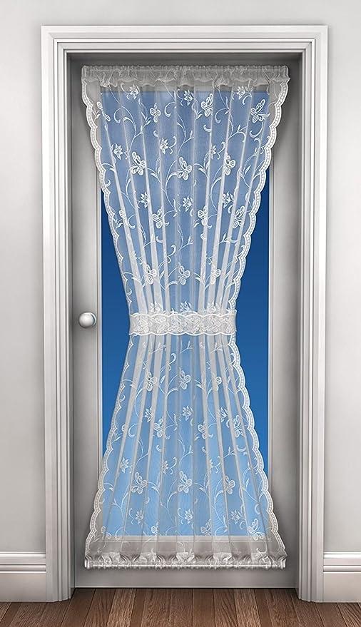 Lace Door Curtain, Net Curtains, Includes Tie Back, 45u0026quot; X 72u0026quot;