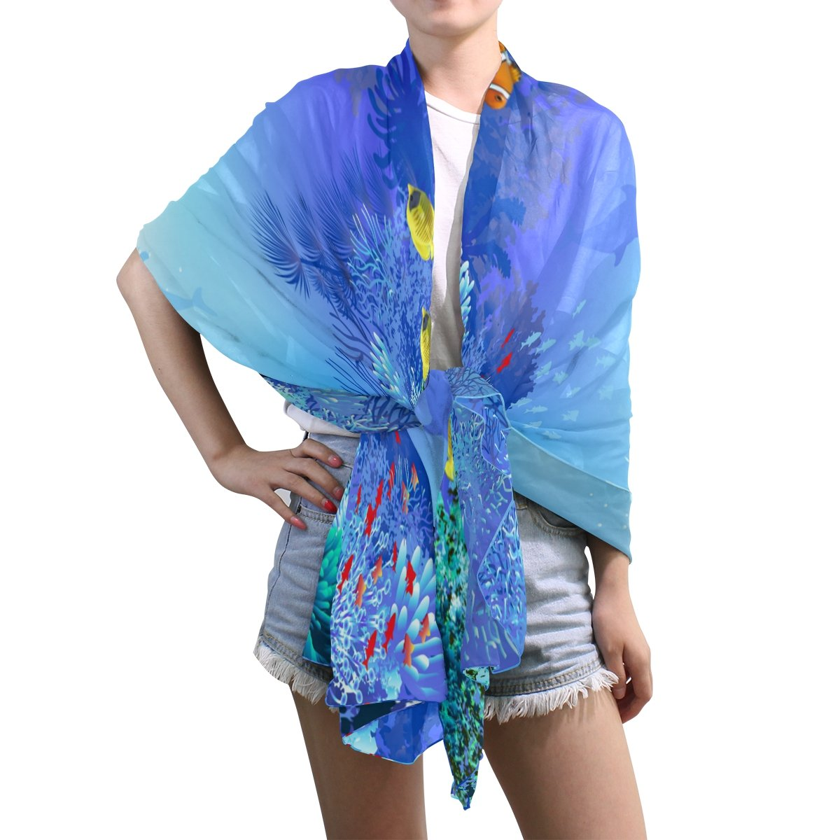 FLOWER PATTERN ALL SEASON LIGHT WEIGHT WRAP OR SCARF COLOR CORAL