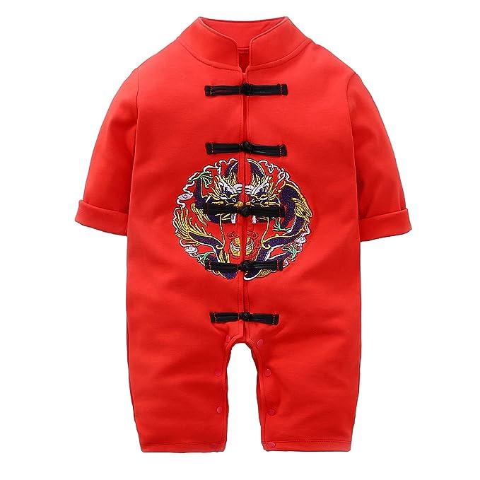 Amazon.com: Traje de dragón chino para bebé, estilo bordado ...