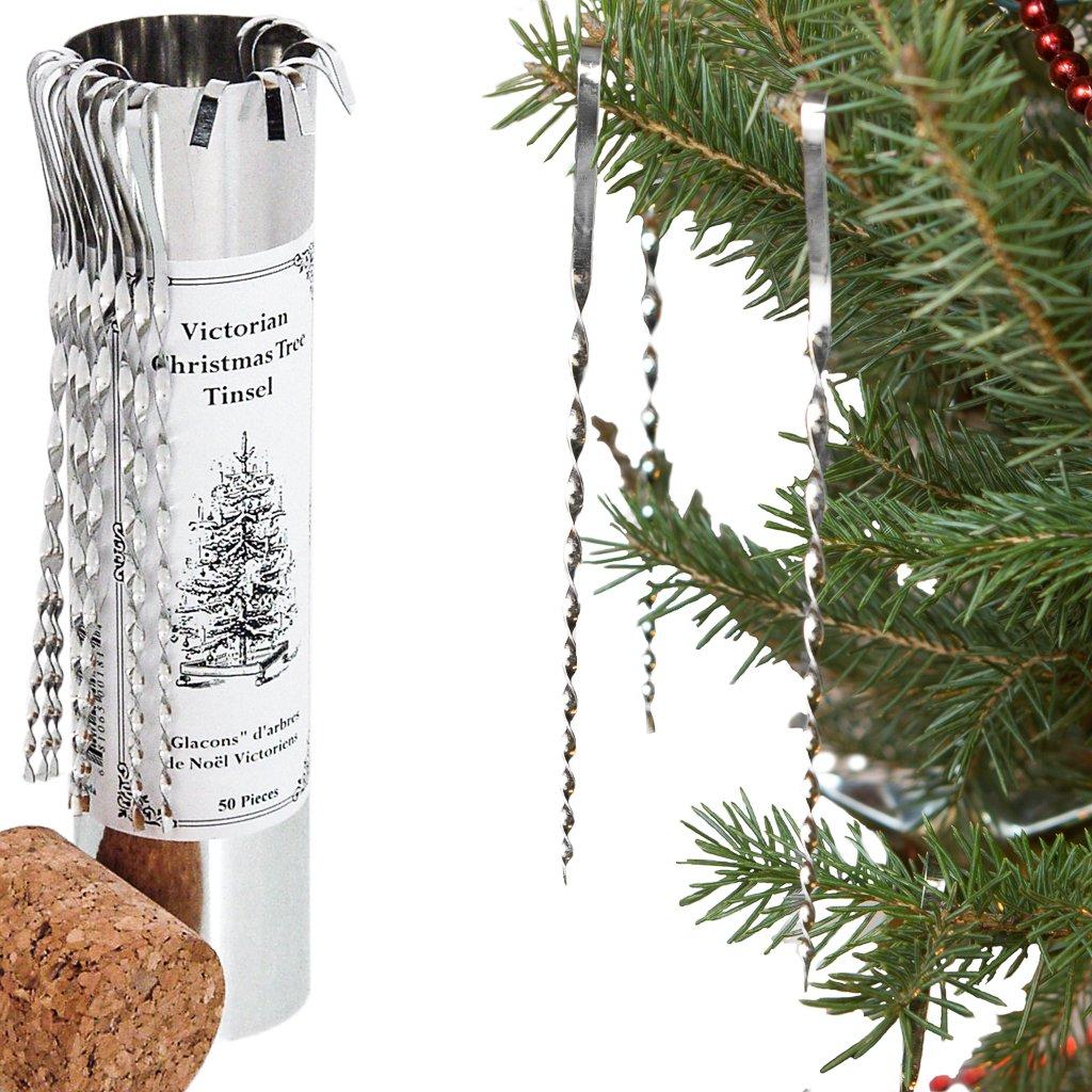 Amazon.com: Victorian Christmas Tree Tinsel - Handmade Tin Icicles ...