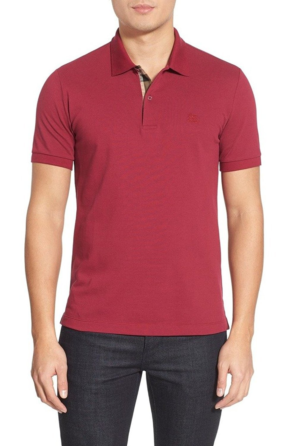 BURBERRY - Men's Polo OXFORD - Red (Military Red), XL