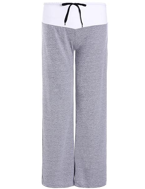 Amazon.com: fancyqube – Mujer Casual cordón cintura alta ...