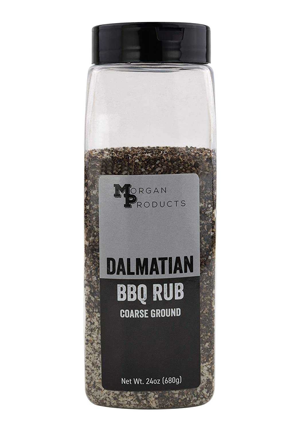 Dalmatian Rub, A coarse salt and pepper BBQ dry rub for smoking briskets, shoulders, ribs, and more. (24 ounce)