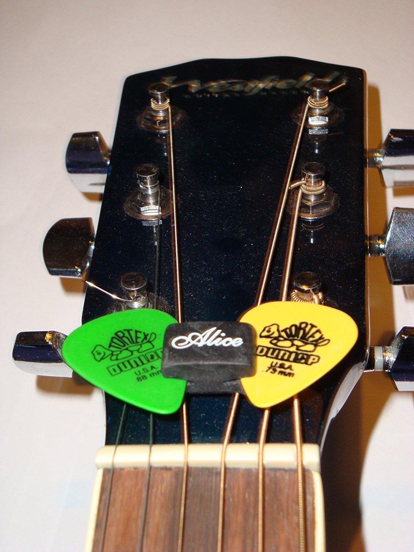 zhjz Alice a010 C 5pcs Negro de goma para pú as Fix de cabezal para guitarra