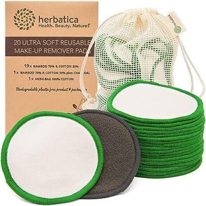 Discos Desmaquillantes Reutilizables - Discos de Algodon y Bambú ...