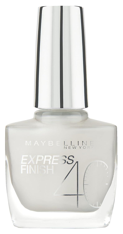 Maybelline Express Finish Nagellack, Nr. 120/19 sweet rose, trocknet in nur 40 Sekunden, Schock-Control-Film schützt die Farbe vor Absplittern, in zartem hellrosa, 10 ml B11054