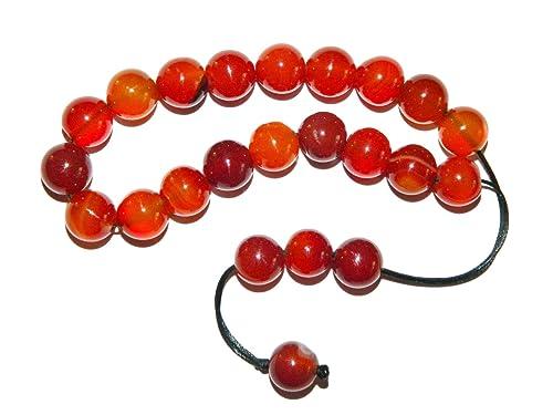 E4-0004 - cuerdas Greek Komboloi rosario de correa de distribución trapezoidal en cuentas de 10 mm de ágata Natural cuentas de: Amazon.es: Joyería