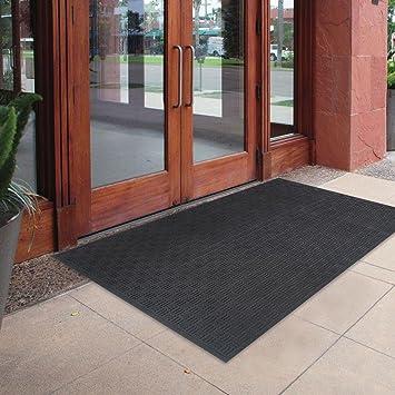 Merveilleux 72 X 48 Oversized Commercial Rubber Black Door Mat Large Outdoor Doormat  Floor