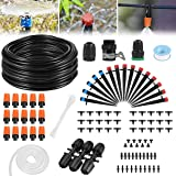 Drip Irrigation Kit, 42m/138ft Garden Irrigation System with Adjustable Nozzle Plant Garden Hose Water Sprinkler & Automatic