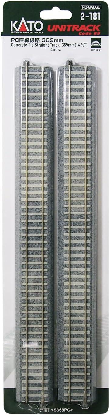 4 pieces japan import HO gauge 2-181 HO unitrack PC straight line 369mm