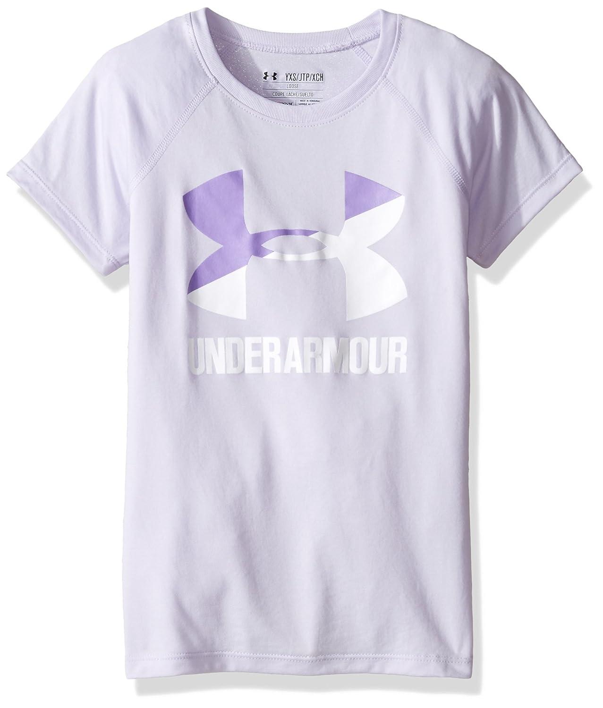 Under Armour Girls' Ua Solid Big Logo Short-Sleeve Shirt, 1299322