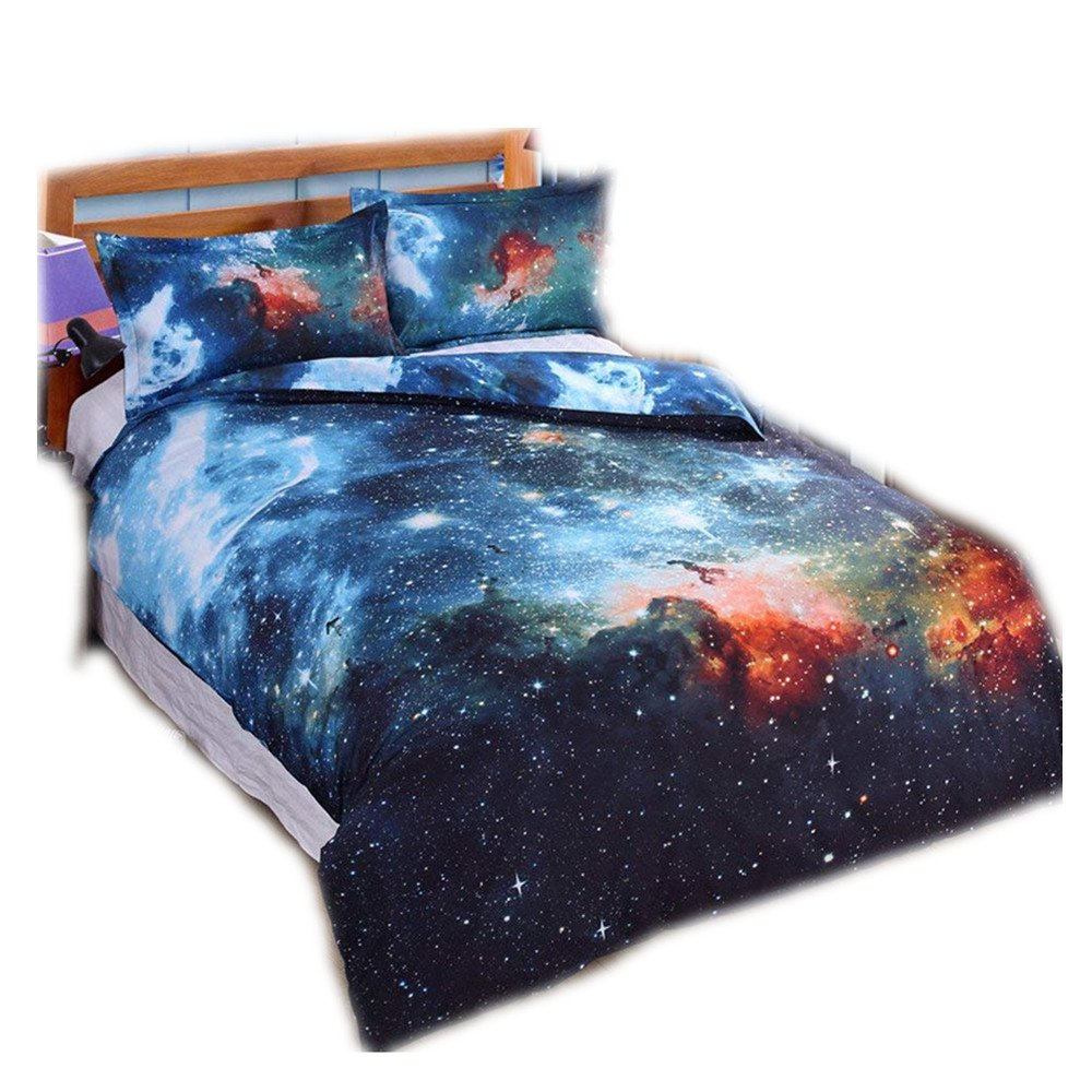 Chaose Allergie Verhindern Bettbezug Set 3d Galaxy Sternenhimmel