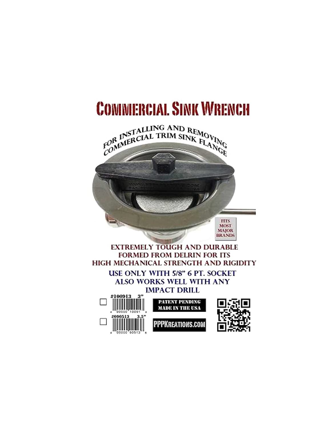 Commercial Sink Wrench 3 INCH