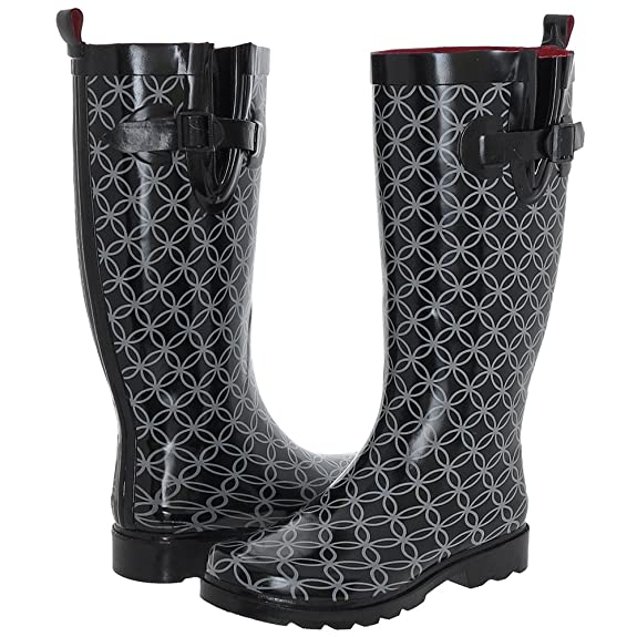 Ladies Circle Geo Printed Rain Boot