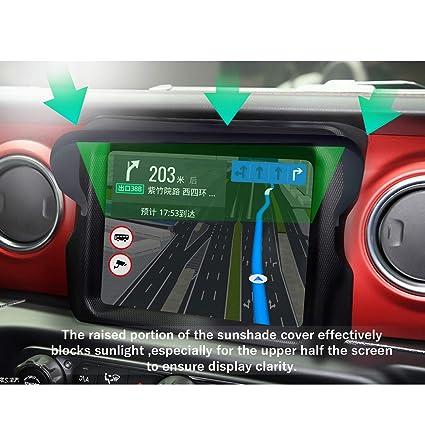 2020+ Jeep Gladiator JT 7-Inch /& 8.4-Inch Screen Glare Vision Shield LFOTPP Vehicle Navigator Sunshade Visor Compatible with 2018+ Jeep Wrangler JL GPS Navigation Sun Hood Anti Reflective