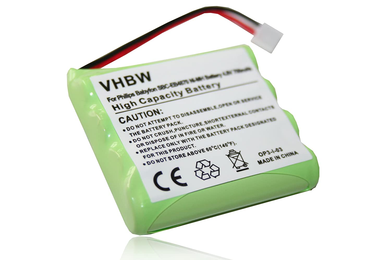 vhbw Batería NiMH 700mAh (4.8V) para monitor de bebé, teléfono ...