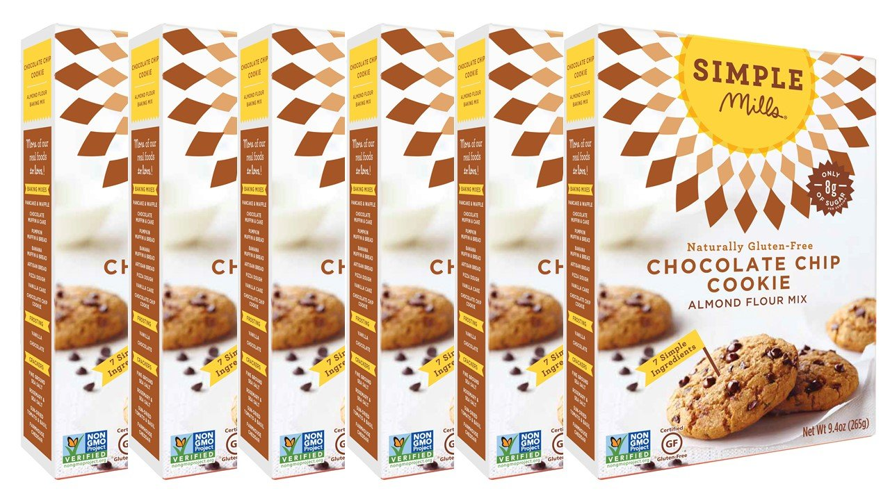 Simple Mills Almond Flour Mix, Chocolate Chip Cookie, 9.4 oz, 6 count by Simple Mills