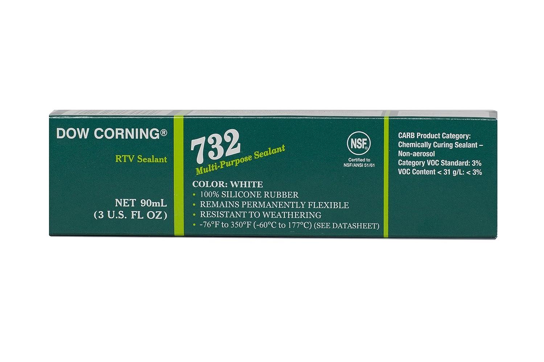 Dow Corning 3140717 732 White Multi-Purpose Sealant, -60 to 180 Degree C, 90 mL