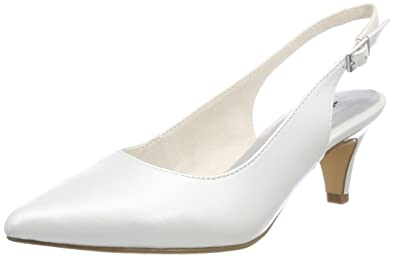 Tamaris Damen 29607 Slingback, Weiß (White 100), 41 EU