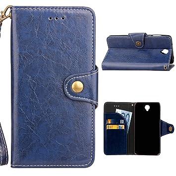 Yoota Funda Cubot MAX, Carcasa de Cuero Funda Billetera de Negocios Premium [Ranura para Tarjetas] Wallet Case Cover [Soporte Plegable] Cartera Retro ...