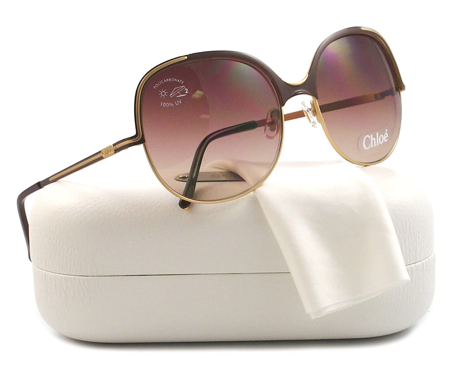 Chloe CL 2244 Gold and Brown C02 Sunglasses CL2244
