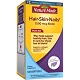 Nature Made Hair, Skin & Nails with 2500 mcg of Biotin Softgels, 120 Count Value Size