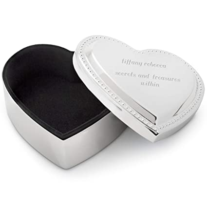 434edc5189f04 Things Remembered Personalized Small Beaded Heart Keepsake Box with  Engraving Included