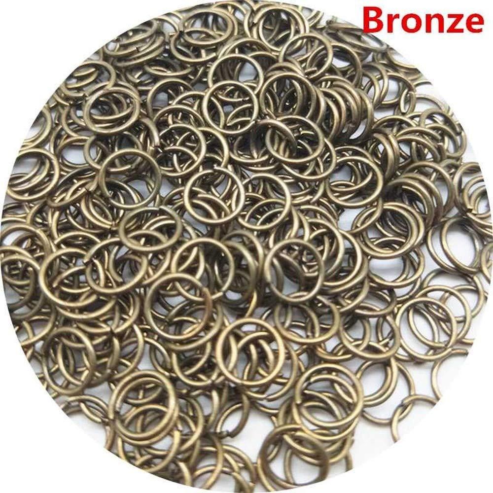 200 PCS//Lot 3mm Beads Jewelry Findings Jump Split Rings Connector for DIY Jewelry Findings Connecting Making