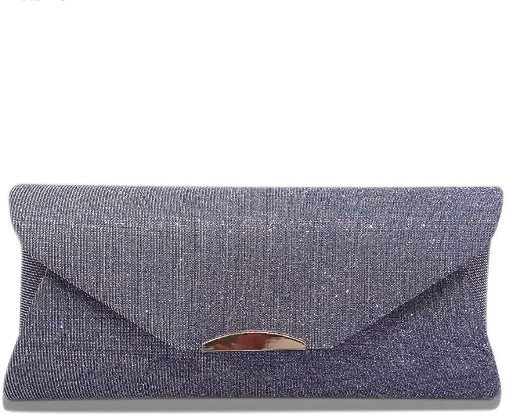 EAPTS Women Evening Shoulder Bag Bridal Clutch Prom Party Wedding Envelope Handbag
