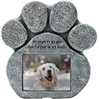 EXPAWLORER Pet Paw Memorial Stone with a Photo Frame and Sympathy Poem, Pet Loss…