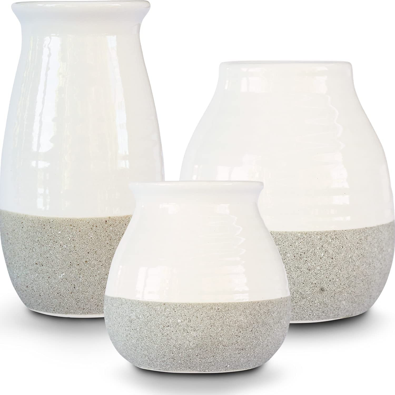 Modern Farmhouse Decor, Vases for Decor, Ceramic Vase Modern Home Decor, Rustic Home Decor Vases for Flowers, Rustic Farmhouse Decor, Living Room Decor and Accessories, Modern Wall Decor