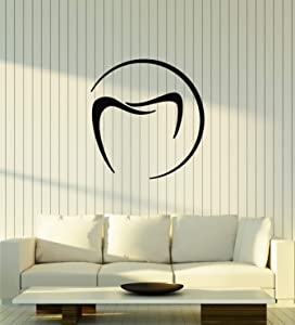 Vinyl Wall Decal Healthy Teeth Dental Office Care Clinic Stickers Mural Large Decor (g1715) Black