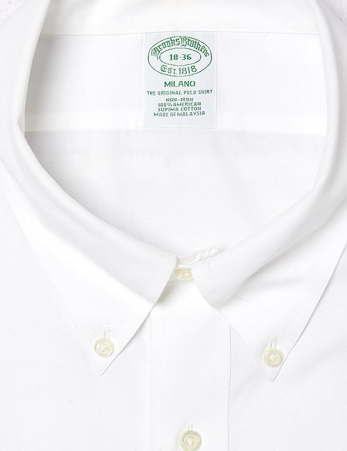 BROOKS BROTHERS Dress Non-Iron Botton Down Milano Camisa para ...