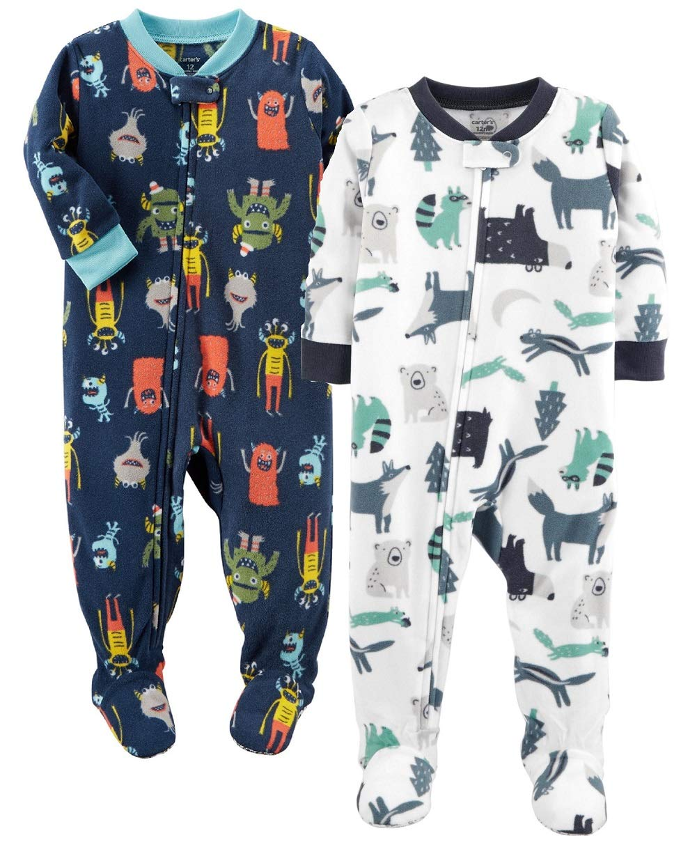 4ec58a2a2b Carter s Baby and Toddler Boys  2-Pack Fleece Footed Pajamas product image