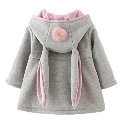 b05988a2f Urtrend Baby Girl s Toddler Kids Fall Winter Coat Jacket Outerwear Ears  Hood Hoodie