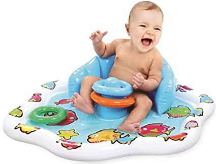 amazon com kleeger baby pool splash mat infant water play mat toy