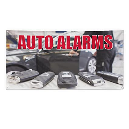 Amazon.com: Auto Alarmas #1 Outdoor Fence Sign Vinyl ...